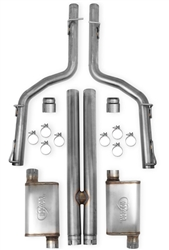Hooker Blackheart Cat-Back Exhaust Kit + H-Pipe (w/ mufflers) SRT8